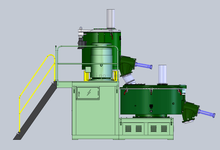 PVC Plastic mixer machine/mixing unit